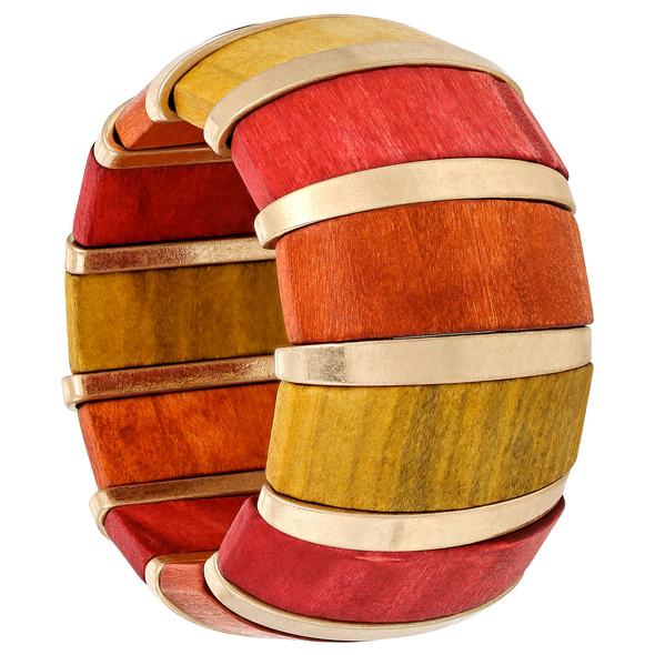 Armband - Coloured Wood