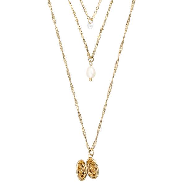 Layering Kette - Floral Amulet