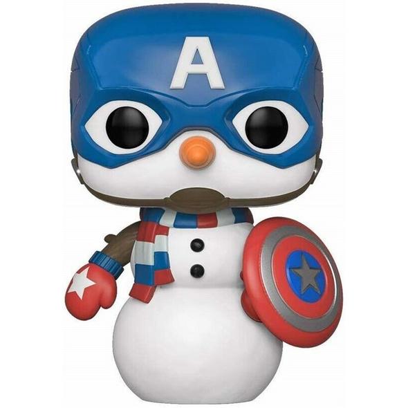 Marvel - POP!- Vinyl Figur Feiertags Capt America