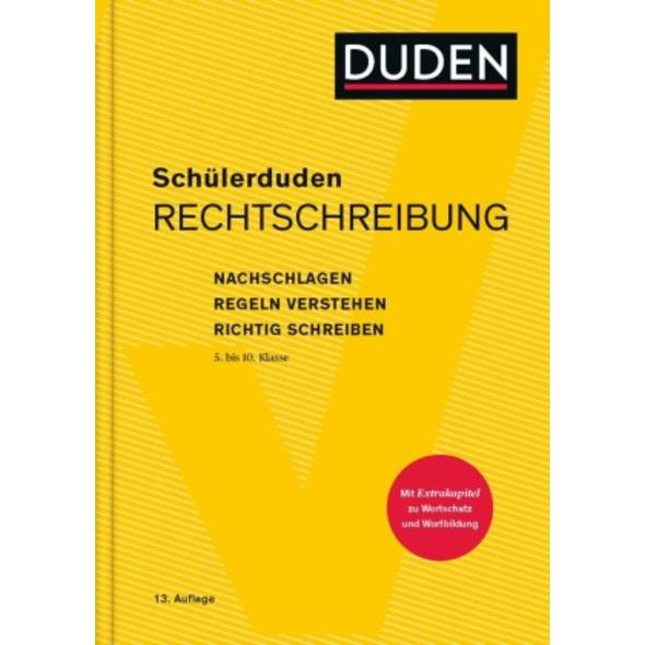 Schülerduden Rechtschreibung und Wortkunde  gebund