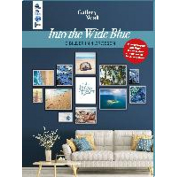 Gallery Wall  Into The Wide Blue . 12 Bilder in 4