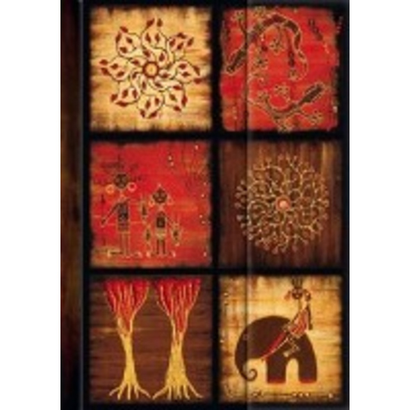 Premium Address Book Big  African Art - Mosaik III