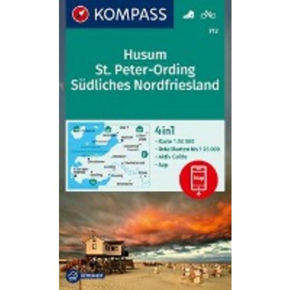 KOMPASS Wanderkarte Husum, St. Peter-Ording, Südli