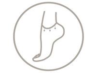 Fußkettchen - Silver Triangle