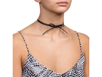 Choker - Leather Bow