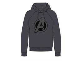 Marvel Avengers - Hoodie Logo grau (Größe XL)
