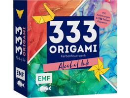 333 Origami -Farbenfeuerwerk: Alcohol Ink
