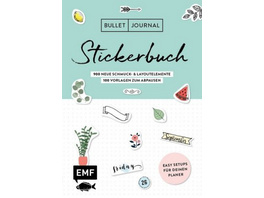 Bullet Journal - Stickerbuch Band 2: 900 neue Schm